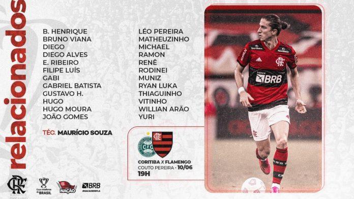 Flamengo divulga lista de relacionados