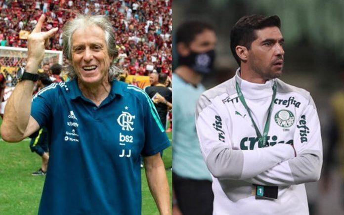 Abel Ferreira tem mais eliminações pelo Palmeiras, do que Jorge Jesus teve derrotas no Flamengo